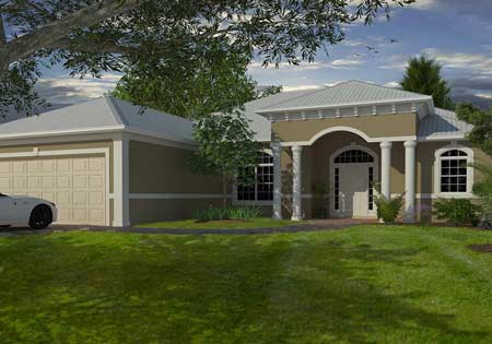 The Chatham custom home model in Port St Lucie Florida